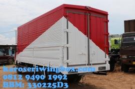Karoseri wingbox light truck Hino Dutro 130 MDL