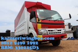 Karoseri wingbox light truck Hino Dutro 130 MDL full line up
