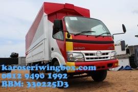 Karoseri wingbox light truck Hino Dutro 130 MDL full line up