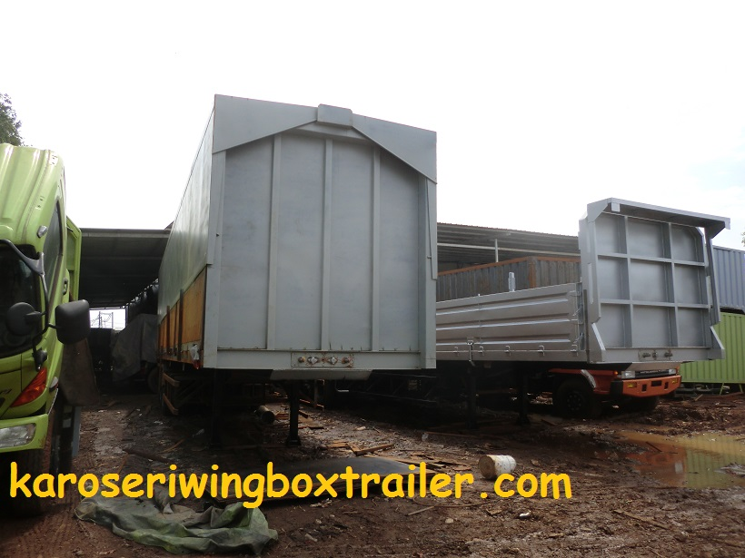 Karoseri wingbox trailer 40 Ft manufaktur